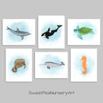 Sea Creature Printable Wall Art | Nautical Nursery | Beach House | Digital Download