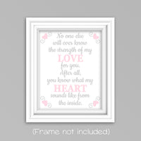 pink and gray poem nursery art