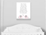 nursery prayer wall decor