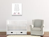 nursery prayer wall art