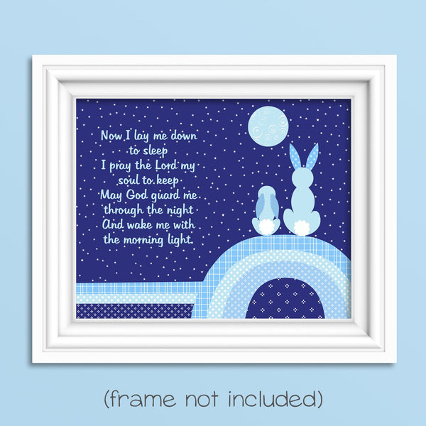 nursery prayer with bunnies for woodland nursery