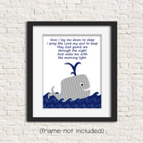 nursery prayer with whale print