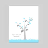 owl baby shower guest book