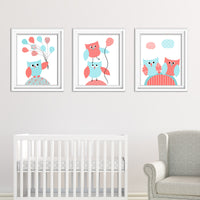 baby girl owl prints