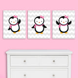 penguin nursery canvases