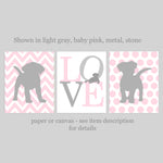 pink puppy nursery decor