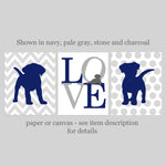 gray and navy puppy nursery decor