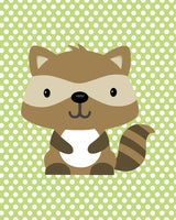 raccoon nursery art