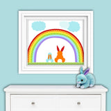 rabbit nursery art print