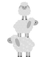 grey and white lamb decor