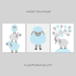 Set of digital files for lamb printable nursery art