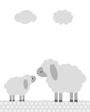grey sheep baby decor