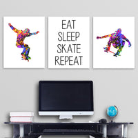 Skater wall art canvas prints