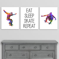 skateboarding wall art