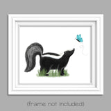 skunk nursery woodland print