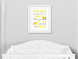 sometimes the smallest things nursery art print with elephants