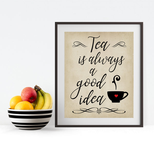 tea kitchen wall decor