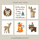 tribal woodland nursery prints