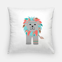 Tribal lion nursery pillow