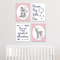 baby girl tribal nursery canvases