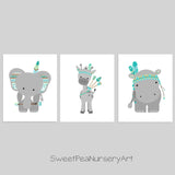 tribal zoo animal pictures for nursery