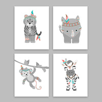 tribal zoo animal decor