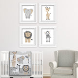Lambs and Ivy Jungle Safari nursery art prints