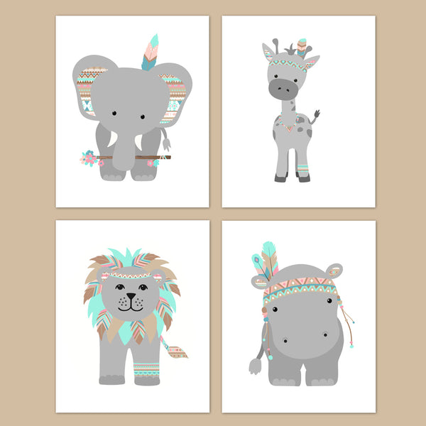 tribal zoo animal nursery decor