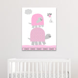 pink turtle nursery canvas