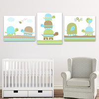turtle canvas prints for baby boy