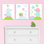 baby girl turtle nursery canvas prints