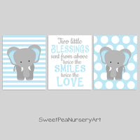 twin boy elephant prints