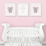 twin girl elephant decor