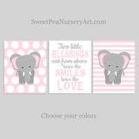 twin girl elephant nursery decor