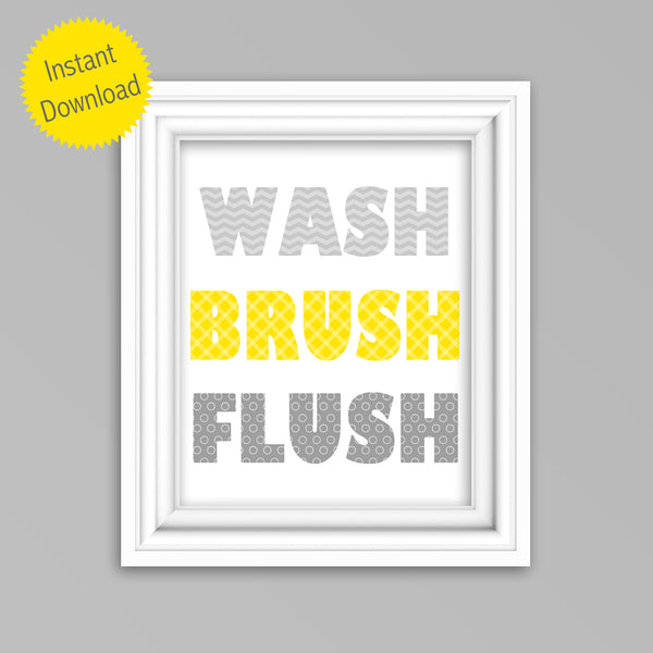 printable kids bathroom decor