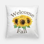 pillow with sunflowers