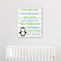 penguin nursery canvas art