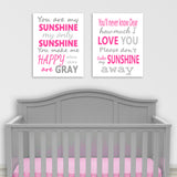 you are my sunshine lyrics nursery canvas art
