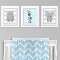 zoo animal nursery art prints