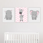 pink and grey jungle animal prints