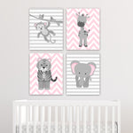 zoo animal nursery art canvas prints