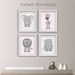 printable zoo animal nursery art