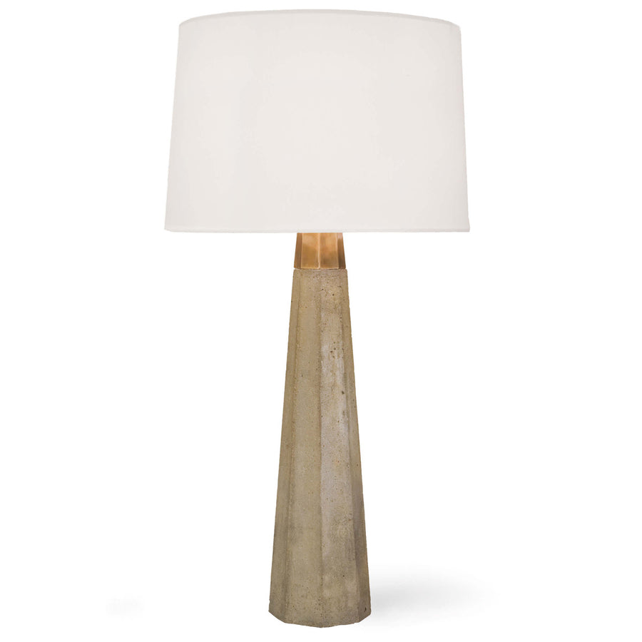 CONCRETE COLONADE TABLE LAMP - TABBY HOME
