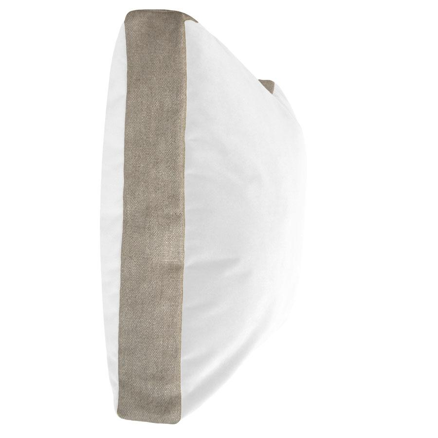 HALL STREET PILLOW - WHITE VELVET + LINEN - TABBY HOME