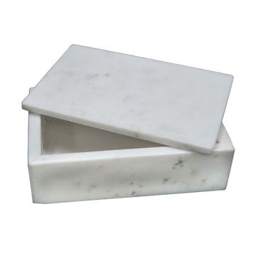 ANDREA LIDDED MARBLE BOX - TABBY HOME
