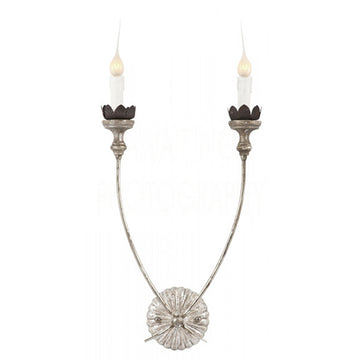 CHAMBERS SILVER LEAF SCONCE - TABBY HOME
