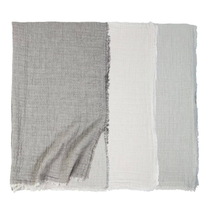EPWORTH OVERSIZED THROW - Linen throw blanket TABBY HOME