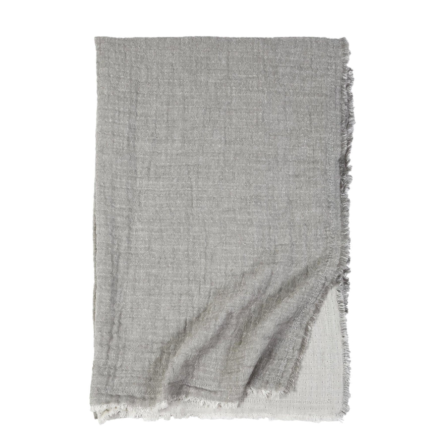 EPWORTH OVERSIZED THROW GREY - TABBY HOME