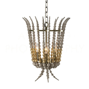 FLAMBEAU CHANDELIER GOLD - TABBY HOME