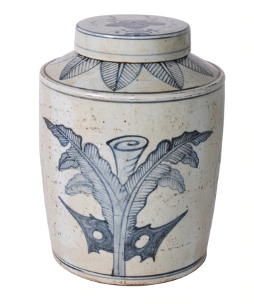 PALM LEAF GINGER JAR - TABBY HOME